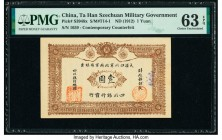 China Ta Han Szechuan Military Government 1 Yuan ND (1912) Pick S3948x Contemporary Counterfeit PMG Choice Uncirculated 63 EPQ.   HID09801242017  © 20...