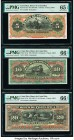 Costa Rica Banco de Costa Rica 5; 10; 20 Colones ND (1901-14) Pick S173r; S174r; S175r Three Remainders PMG Gem Uncirculated 65 EPQ; Gem Uncirculated ...