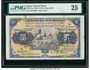 Egypt National Bank of Egypt 50 Pounds 1942-45 Pick 15c PMG Very Fine 25. Repaired.  HID09801242017  © 2020 Heritage Auctions | All Rights Reserved