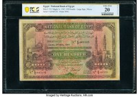 Egypt National Bank of Egypt 100 Pounds 3.4.1945 Pick 17d PCGS Very Fine 20 Details. Pieces replaced, writing and tape repairs.   HID09801242017  © 20...