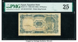 Egypt Egyptian State 10 Piastres 1940 (ND 1952) Pick 171 PMG Very Fine 25.   HID09801242017  © 2020 Heritage Auctions | All Rights Reserved