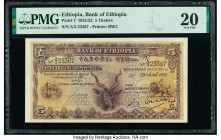 Ethiopia Bank of Ethiopia 5 Thalers 29.4.1933 Pick 7 PMG Very Fine 20. Repaired.  HID09801242017  © 2020 Heritage Auctions | All Rights Reserved