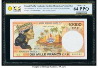 French Pacific Territories Institut d'Emission d'Outre Mer 10,000 Francs ND (1985) Pick 4a PCGS Banknote Choice UNC 64 PPQ.   HID09801242017  © 2020 H...