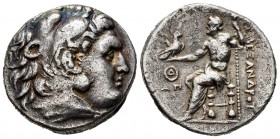 Thrace. Odessos. Tetradrachm. 280-225 BC. In the name and types of Alexander III of Macedon. (Price-1141). (Topalov, Odessos-11). Anv.: Head of Herakl...