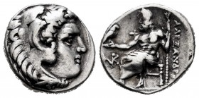 "Kingdom of Macedon. Alexander III, ""The Great"". Drachm. 334-323 BC. Sardes. (Price-2581). Anv.: Head of Herakles right, wearing lion skin headdress. R..."