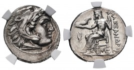Kingdom of Macedon. Antigonos I Monophthalmos. Drachm. 310-301 BC. Lampsakos. In the name and types of Alexander III. (Price-1417). Anv.: Head of Hera...