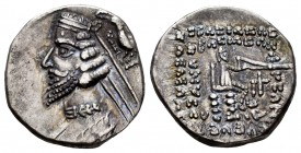 Kingdom of Parthia. Phraates IV. Drachm. 38-2 BC. Rhagai. (Sellwood-52. 11-12). (Shore-280). Anv.: Diademed and draped bust of Phraates IV to left; be...