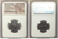 SICILY. Syracuse. Agathocles (317-289 BC). AE litra (23mm, 9.86 gm, 11h). NGC Choice XF S 5/5 - 4/5. ΣΩΤΕΙΡΑ, head of Artemis Soteira to right, quiver...