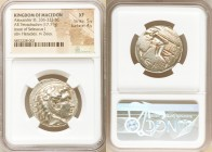 MACEDONIAN KINGDOM. Alexander III the Great (336-323 BC). AR tetradrachm (28mm, 17.11 gm, 4h). NGC XF 5/5 - 4/5. Posthumous issue of Aradus, ca. 311-3...