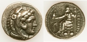 MACEDONIAN KINGDOM. Alexander III the Great (336-323 BC). AR tetradrachm (27mm, 16.63 gm, 5h). Choice VF. Lifetime issue of Tarsus, ca. 327-323 BC. He...