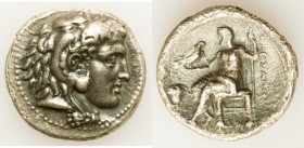 MACEDONIAN KINGDOM. Alexander III the Great (336-323 BC). AR tetradrachm (28mm, 15.77 gm, 10h). Choice VF, crystallization. Early Ptolemaic issue of M...