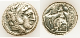 MACEDONIAN KINGDOM. Alexander III the Great (336-323 BC). AR tetradrachm (25mm, 16.33 gm, 2h). About VF, crystallization. Posthumous issue of Amphipol...
