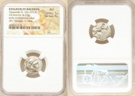 MACEDONIAN KINGDOM. Alexander III the Great (336-323 BC). AR drachm (17mm, 4.27 gm, 7h). NGC AU 5/5 - 4/5. Posthumous issue of Lampsacus, ca. 310-301 ...
