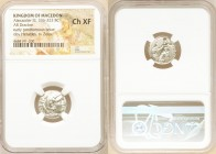 MACEDONIAN KINGDOM. Alexander III the Great (336-323 BC). AR drachm (16mm, 6h). NGC Choice XF. Posthumous issue of Teos, ca. 323-319 BC. Head of Herac...