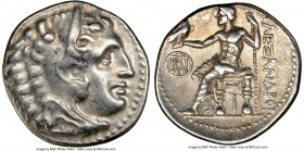 MACEDONIAN KINGDOM. Alexander III the Great (336-323 BC). AR drachm (18mm, 11h). NGC XF. Early posthumous issue of Miletus, 295-275 BC. Head of Heracl...