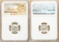 MACEDONIAN KINGDOM. Alexander III the Great (336-323 BC). AR drachm (17mm, 2h). NGC XF. Lifetime issue of Miletus, ca. 325-323 BC. Head of Heracles ri...