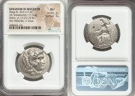 MACEDONIAN KINGDOM. Philip III Arrhidaeus (323-317 BC). AR tetradrachm (28mm, 17.04 gm, 5h). NGC AU 5/5 - 3/5. Sidon, dated Regnal Year 13 of Abdalony...