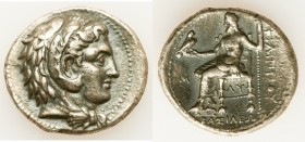 MACEDONIAN KINGDOM. Philip III Arrhidaeus (323-317 BC). AR tetradrachm (29mm, 16.66 gm, 6h). About XF. Lifetime issue of Babylon, ca. 323-317 BC. Head...