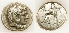 MACEDONIAN KINGDOM. Philip III Arrhidaeus (323-317 BC). AR tetradrachm (29mm, 16.61 gm, 1h). About XF, edge chips. Lifetime issue of Babylon, ca. 323-...