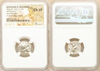 MACEDONIAN KINGDOM. Philip III Arrhidaeus (323-317 BC). AR drachm (17mm, 11h). NGC Choice VF. Lifetime issue of 'Colophon', ca. 323-319 BC. Head of He...