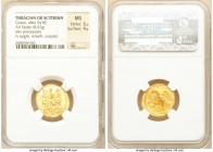 SCYTHIA. Geto-Dacians. Coson (ca. after 54 BC). AV stater (20mm, 8.47 gm, 11h). NGC MS 3/5 - 4/5. Ca. 44-42 BC. Roman consul (L. Junius Brutus) walkin...