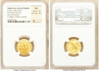 SCYTHIA. Geto-Dacians. Coson (ca. after 54 BC). AV stater (19mm, 8.41 gm, 11h). NGC MS 3/5 - 4/5. Ca. 44-42 BC. Roman consul (L. Junius Brutus) walkin...