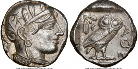 ATTICA. Athens. Ca. 440-404 BC. AR tetradrachm (24mm, 17.13 gm, 2h). NGC MS 5/5 - 3/5. Mid-mass coinage issue. Head of Athena right, wearing crested A...