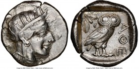 ATTICA. Athens. Ca. 440-404 BC. AR tetradrachm (25mm, 17.20 gm, 5h). NGC Choice XF 4/5 - 3/5, brushed. Mid-mass coinage issue. Head of Athena right, w...