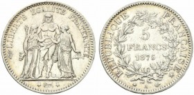 France. 5 francs 1875 A Ag.24,88g BB