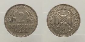 Germany. 2 Mark 1951 F. bb-spl