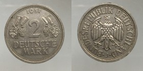 Germany. 2 mark 1951 J