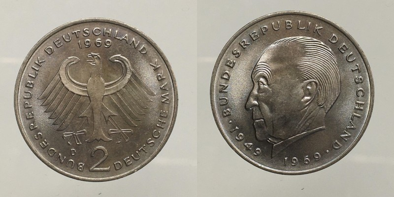 Germany. 2 Mark 1969 D. UNC