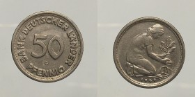 Germany. 50 pfennig 1949 G. spl-fdc