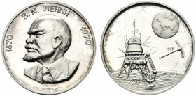 medaglia/gettone Lenin 1970 Ag.proof 14,56g