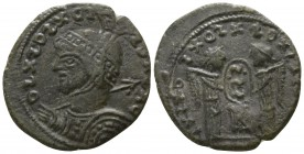 Imitation of Constantine circa AD 318. Imitating Siscia. Follis Æ