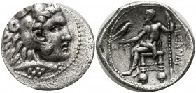 "Kings of Macedon. Ake. Alexander III ""the Great"" 336-323 BC, (year 32=315/314 BC).. Tetradrachm AR"