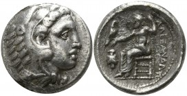 "Kings of Macedon. Amphipolis. Alexander III ""the Great"" 336-323 BC. Struck under Antipater, circa 332-326 BC. . Tetradrachm AR"
