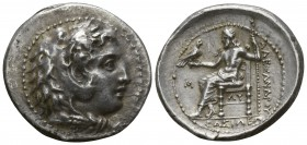 Kings of Macedon. Babylon. Philip III Arrhidaeus 323-317 BC. In the name of Alexander III. Struck under Archon, Dokimos, or Seleukos I, circa 323-318/...