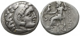 "Kings of Macedon. Kolophon. Alexander III ""the Great"" 336-323 BC, (struck ca. 310-301 BC). . Drachm AR"