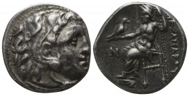 "Kings of Macedon. Kolophon. Alexander III ""the Great"" 336-323 BC, (struck ca. 310-301 BC).. Drachm AR"