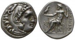 Kings of Macedon. Lampsakos. Antigonos I Monophthalmos 320-301 BC. In the name and types of Alexander III.. Drachm AR