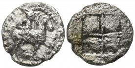 Kings of Macedon. Uncertain mint. Alexander I 495-450 BC, (struck circa 492-479 BC).. Tetrobol AR
