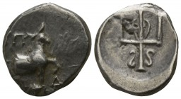 Thrace. Byzantion circa 353-340 BC. Hemidrachm AR