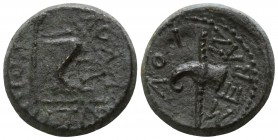 Kings of Thrace. Rhoemetalkes I 11 BC-12 AD. Bronze Æ