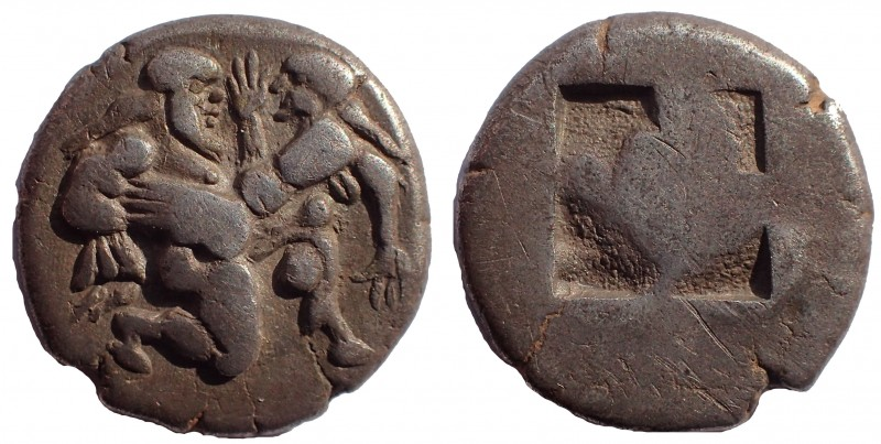 Thracian Islands. Thasos. Ca. 525-500 BC. AR stater 19 mm. 7.4 gm. Thasian stand...