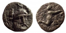 Troas. Ophrynion. Portrait of the Trojan Hero Hektor, Ae 12, Rare.