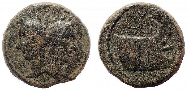 Sextus Pompey, as Imperator and Prefect of the Fleet (42-36 BC). Æ as 29 mm. 20....