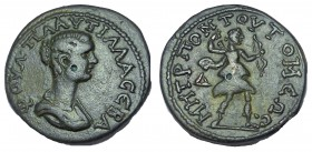 Plautilla, wife of Caracalla. Moesia Inferior, Tomis. AE 26. Very Rare.