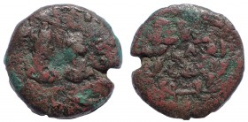 Egypt, Alexandria Aurelian with Vaballathus, 270-275. Reduced Drachm. Very Rare.