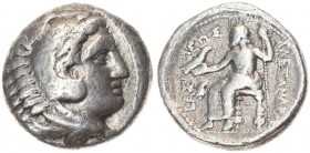Greece Macedonia 1 Tetradrachm Alexander III The Great (336-323 BC). 'Amphipolis'. c. 323-320 BC. Averse: Head of Herakles r. wearing skin of lion's h...